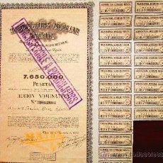 Coleccionismo Acciones Españolas: ACCIÓN MANUFACTURA AUXILIAR TEXTIL S.A. BÉJAR, 1954.. Lote 30852950