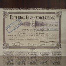 Coleccionismo Acciones Españolas: ACCIÓN ESTUDIOS CINEMATOGRÁFICOS. MADRID, 1940.. Lote 30996214