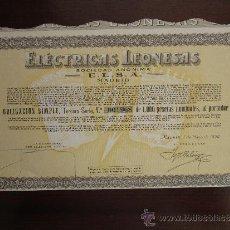 Collezionismo Azioni Spagnole: ACCIÓN ELÉCTRICAS LEONESAS S.A. E.L.S.A. MADRID, 1958.. Lote 30996271
