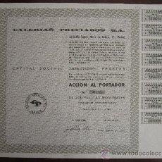 Coleccionismo Acciones Españolas: ACCIÓN GALERIAS PRECIADOS S.A. MADRID, 1976.. Lote 31038727