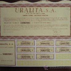 Coleccionismo Acciones Españolas: ACCIÓN URALITA S.A. MADRID, 1987. Lote 31134530