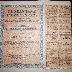 Collezionismo Azioni Spagnole: CEMENTOS REZOLA S.A. SAN SEBASTIAN, 1967.. Lote 154112449