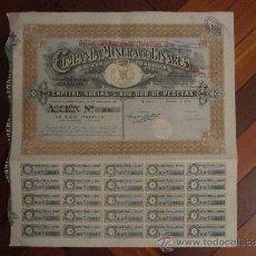 Coleccionismo Acciones Españolas: ACCIÓN COMPAÑÍA MINERA DE LINARES S.A. MADRID, 1919. . Lote 31165451