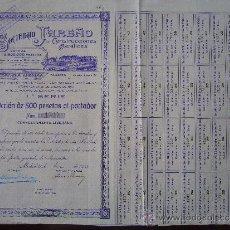 Colecionismo Ações Espanholas: ACCIÓN SOCIEDAD TAREÑO DE CONSTRUCCIONES METÁLICAS. MADRID, 1913. . Lote 31316616