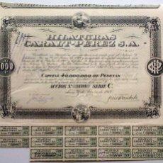 Coleccionismo Acciones Españolas: HILATURAS CARALT-PEREZ S. A.. Lote 31691523