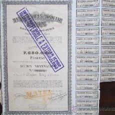 Coleccionismo Acciones Españolas: ACCIÓN MANUFACTURA AUXILIAR TEXTIL S.A. BÉJAR. 1954. Lote 31829055