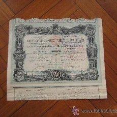 Coleccionismo Acciones Españolas: ACCIÓN COMPAÑÍA DE LOS FERROCARRILES ANDALUCES CHEMINS DE TER ANDALOUS. MADRID, 1880. Lote 32211593