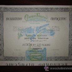 Coleccionismo Acciones Españolas: ACCIÓN GRANDES FÁBRICAS DE S.A. PESCADOS Y SALAZONES. BERNARDO ALFAGEME. MADRID, 1908. Lote 32211657