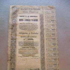 Coleccionismo Acciones Españolas: ACCIÓN COMPAÑIA DE LOS FERROCARRILES MADRID A ZARAGOZA Y ALICANTE 1924 MZA. Lote 32608905