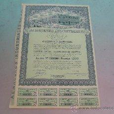 Coleccionismo Acciones Españolas: ACCIÓN ALMACENES INDUSTRIALES RAGA MADRID 1962. Lote 136718316