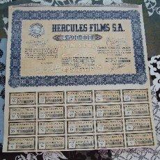 Coleccionismo Acciones Españolas: ACCIÓN HERCULES FILMS MADRID 1942. Lote 32801498