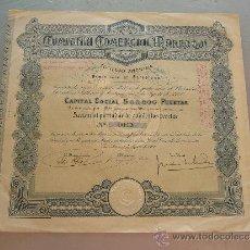 Coleccionismo Acciones Españolas: ACCIÓN COMPAÑÍA COMERCIAL MARROQUÍ S.A. BARCELONA 1908. Lote 32888275