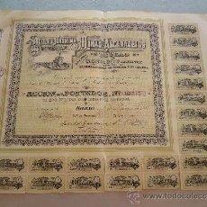 Coleccionismo Acciones Españolas: ACCIÓN SOCIEDAD ANÓNIMA MINAS DE ALCARACEJOS - BILBAO 1898. Lote 32888379