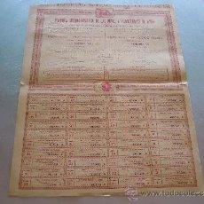Coleccionismo Acciones Españolas: ACCIÓN COMPAÑÍA HISPANO FRANCESA DE LAS MINAS Y FERROCARRILES DE ISONA BARCELONA 1887. Lote 32888822