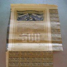 Coleccionismo Acciones Españolas: ACCIÓN FERROCARRILES ECONÓMICOS ESPAÑOLES S.A. BARCELONA 1926. Lote 32888891