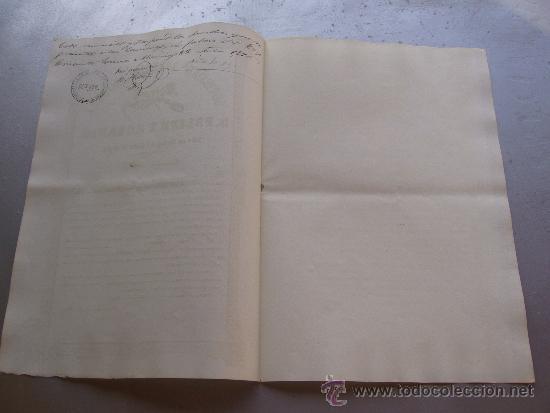 Coleccionismo Acciones Españolas: Acción de la sociedad especial minera S. Felipe y Rosario - Cabo de Gata 1860 Almería - Foto 2 - 33084588