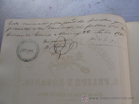 Coleccionismo Acciones Españolas: Acción de la sociedad especial minera S. Felipe y Rosario - Cabo de Gata 1860 Almería - Foto 3 - 33084588