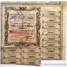 Coleccionismo Acciones Españolas: SOCIEDAD GENERAL DE CRÉDITO MOVILIARIO ESPAÑOL. Lote 33413425