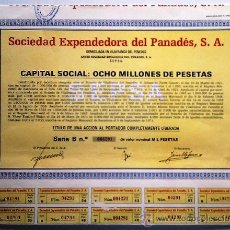 Collectionnisme Actions Espagne: SOCIEDAD EXPENDEDORA DEL PANEDÉS, S. A.. Lote 33572370