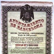 Collectionnisme Actions Espagne: AYUNTAMIENTO DE BARCELONA. Lote 33572468