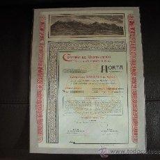 Coleccionismo Acciones Españolas: ACCION COMPAÑÍA DE URBANIZACIÓN DE LAS ALTURAS N.E. DE HORTA. Lote 34124087