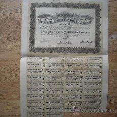 Coleccionismo Acciones Españolas: SOCIEDAD DE FERROCARRILES DE MONTAÑA A GRANDES PENDIENTES. Lote 34160047
