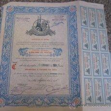 Coleccionismo Acciones Españolas: ACCION : INSTITUCION ASEGURADORA SA - MADRID 1946 40X36 CUPONES - R2 SEGUROS. Lote 102642339
