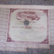 Coleccionismo Acciones Españolas: ACCION OBLIGACION COMPAÑIA VIGUESA DE PANIFICACION 1923 ACCIÓN 98/1200 - TRES FIRMAS Y CUPONES.. Lote 34345936