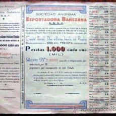 Coleccionismo Acciones Españolas: ACCION AÑO DE 1939. EXPORTADORA BAÑEZANA. LA BAÑEZA.LEÓN. ENVIO CERTIFICADO GRATIS¡¡¡. Lote 34526991