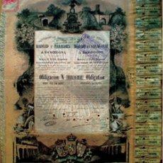 Coleccionismo Acciones Españolas: OBLIGACION 1883.- FERROCARRILES DIRECTOS MADRID Y ZARAGOZA A BARCELONA DE 500 PTS.. Lote 30200408