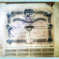 Coleccionismo Acciones Españolas: ACCION 1891.- SDAD. DE FERROCARRILES DE MONTAÑA A GRANDES PENDIENTES DE 250 PTS.. Lote 72006517