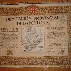 Coleccionismo Acciones Españolas: DIPUTACION PROVINCIAL DE BARCELONA 1926. Lote 34864661