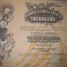 Coleccionismo Acciones Españolas: ACCION- HIDROELECTRICA IBERICA 'IBERDUERO'.--- JUNIO 1971. Lote 35125779