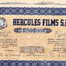 Coleccionismo Acciones Españolas: ACCION. HERCULES FILMS. S.A. CINE. MADRID. 1942. 38 X 39 CM.. Lote 35295445