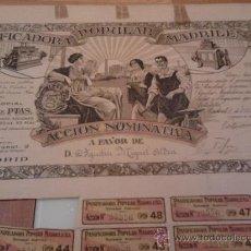 Coleccionismo Acciones Españolas: ACCION NOMINATIVA,DE PANIFICADORA POPULAR MADRILEÑA,MADRID 1916. Lote 35591798