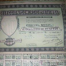 Coleccionismo Acciones Españolas: SELECCION Y COMERCIO DE LA PATATA -SEYCO. Lote 158711150