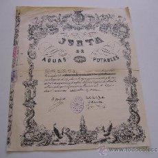Coleccionismo Acciones Españolas: ACCIÓN JUNTA DE AGUAS POTABLES DE MANRESA 1947. Lote 36908395