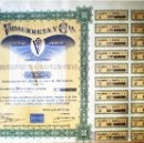 Coleccionismo Acciones Españolas: 1959.- ACCION ORDINARIA DE 500 PTS. DE VIDAURRETA Y CIA., S.A. CON 20 CUPONES. . Lote 37088450