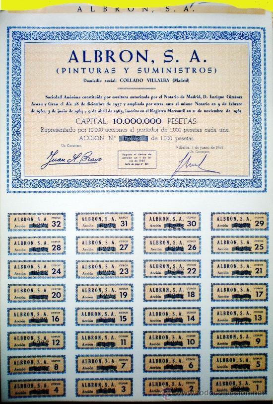 Coleccionismo Acciones Españolas: Capital 10,000.000 Pts. - Foto 4 - 37095986