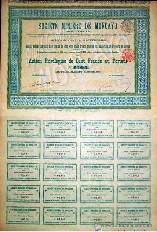 1899.- ACCION PREVILIGIADA DE 100 FR. DE