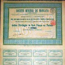 Coleccionismo Acciones Españolas: 1899.- ACCION PREVILIGIADA DE 100 FR. DE