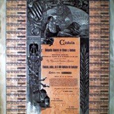 Coleccionismo Acciones Españolas: 1901.- CEDULA FUNDADOR- COMPAÑIA GENERAL DE MINAS Y SONDEOS, S.A. MUY DECORATIVA.. Lote 37473628
