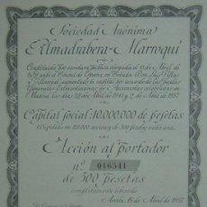 Collezionismo Azioni Spagnole: ALMADRABERA MARROQUÍ, ARCILA - PROTECTORADO ESPAÑOL EN MARRUECOS (1957). Lote 37808344