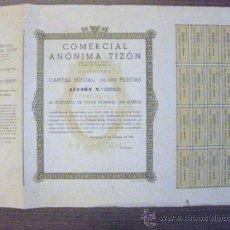 Coleccionismo Acciones Españolas: ACCION SIN IMPRIMIR COMERCIAL ANONIMA TIZON. BARCELONA 10 DE OCTUBRE DE 1932.. Lote 37536917