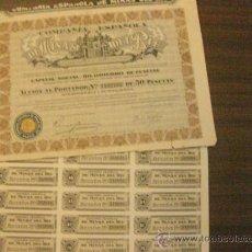 Coleccionismo Acciones Españolas: ACCION- COMPAÑÍA ESPAÑOLA DE MINAS DEL RIF, S.A DICIEMBRE 1935.. Lote 205128717