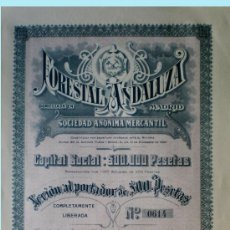 Coleccionismo Acciones Españolas: 1921.- ACCION DDE 500 PTS. DE