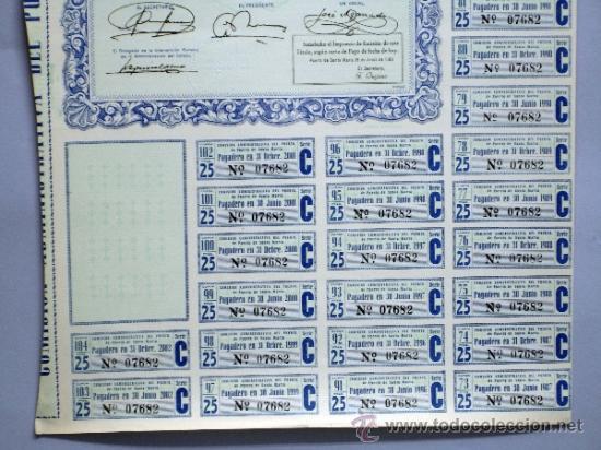 Coleccionismo Acciones Españolas: Acción Comisión Administrativa del Puerto de Santa María 9 mayo 1950 - Foto 3 - 37713585