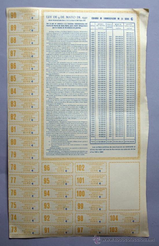 Coleccionismo Acciones Españolas: Acción Comisión Administrativa del Puerto de Santa María 9 mayo 1950 - Foto 5 - 37713585