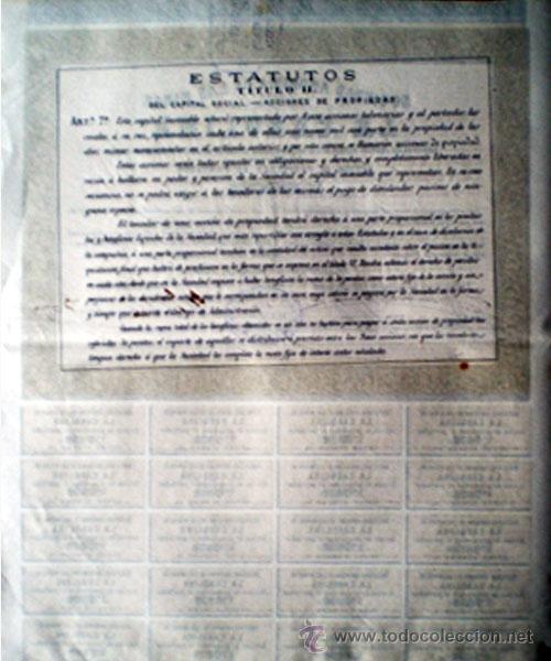 Coleccionismo Acciones Españolas: Reverso - Foto 2 - 38006710