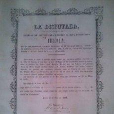 Coleccionismo Acciones Españolas: SOCIEDAD DE PARTIDO LA DISPUTADA LORCA MURCIA HERRERIAS ALMERIA 1874. Lote 38068666